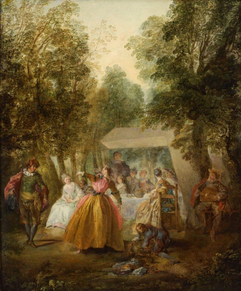 Танец в саду. Середина 1730-х гг.