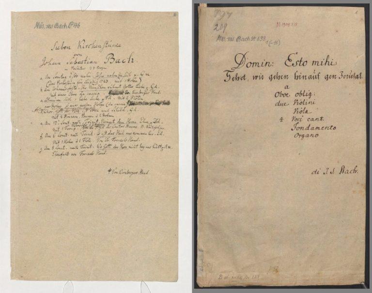 Титульные листы кантат 22 и 159