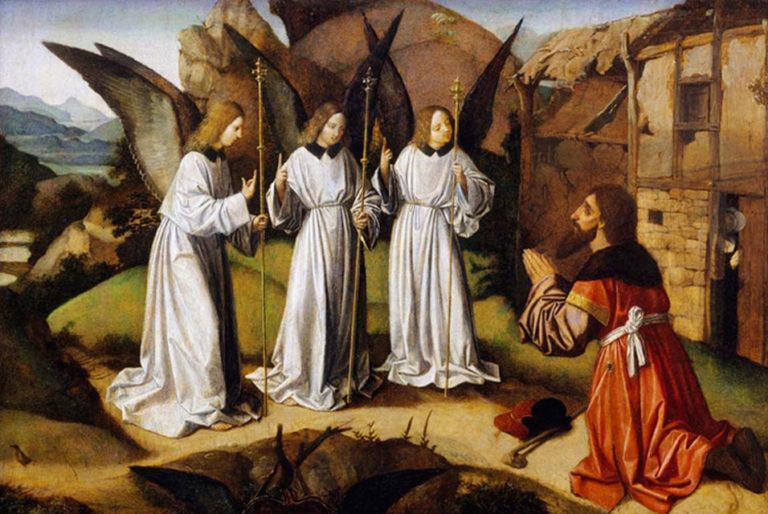 Три ангела и Авраам. Около 1500