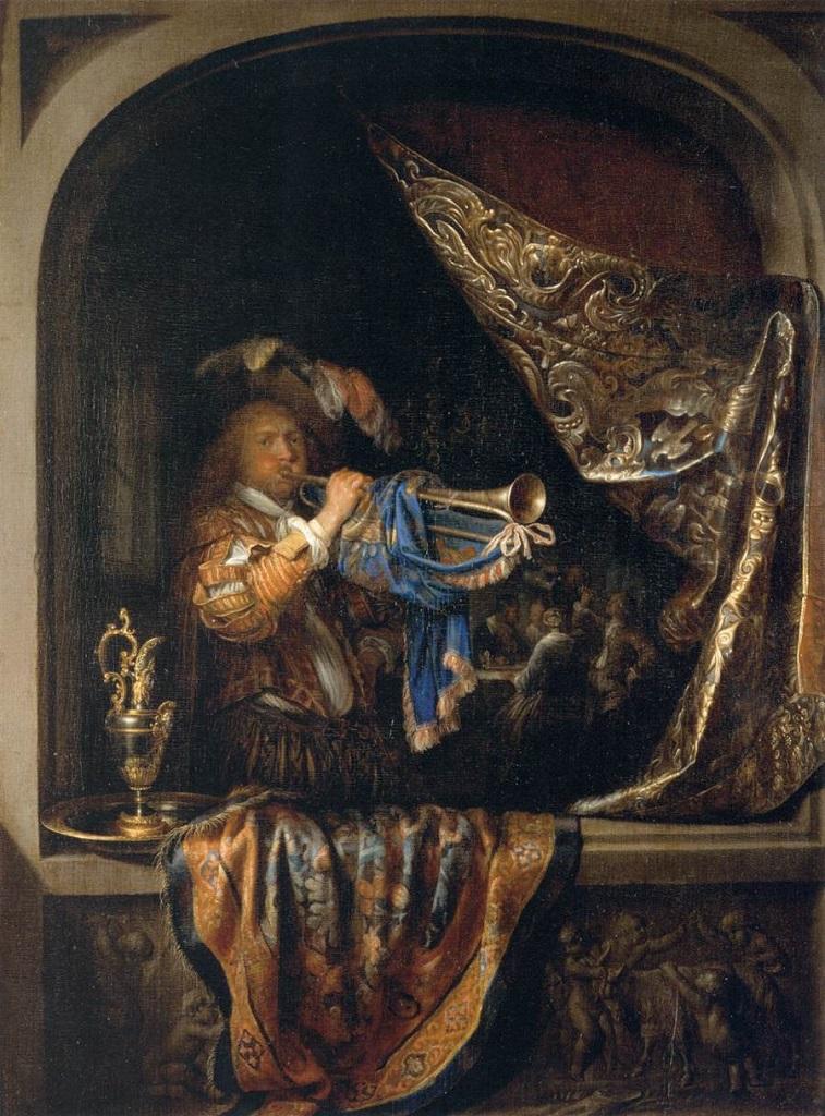 Трубач перед пиршеством. 1660-1665