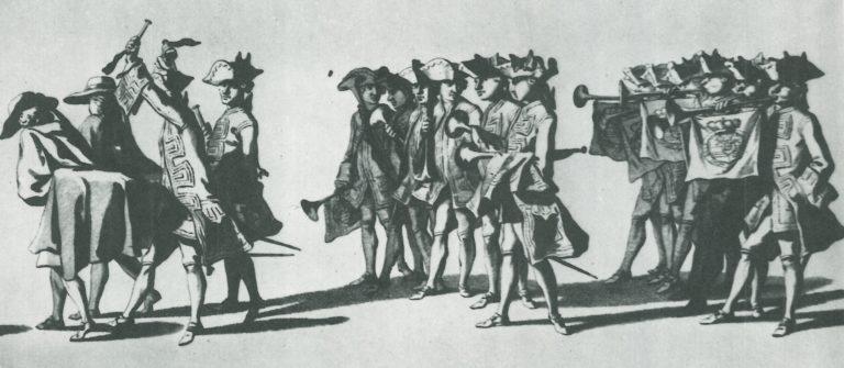 Трубачи из Гааги. 1753