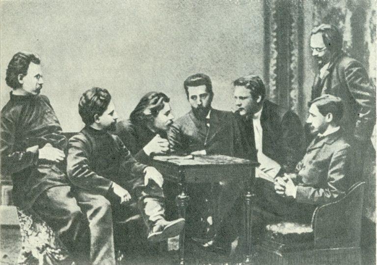 Участники литературного кружка «Среда». 1902