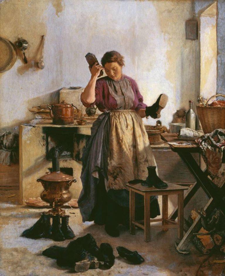 Утро на кухне (Кухарка). 1863