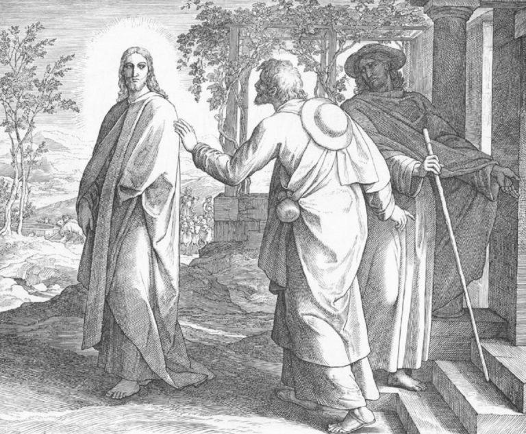 В Эммаусе (Евангелие от Луки 2428-29)