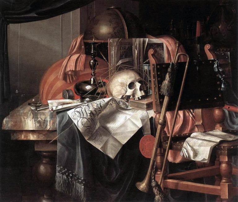 Vanitas. 2-я половина XVII века. Художник – Францискус Гейсбрехтс