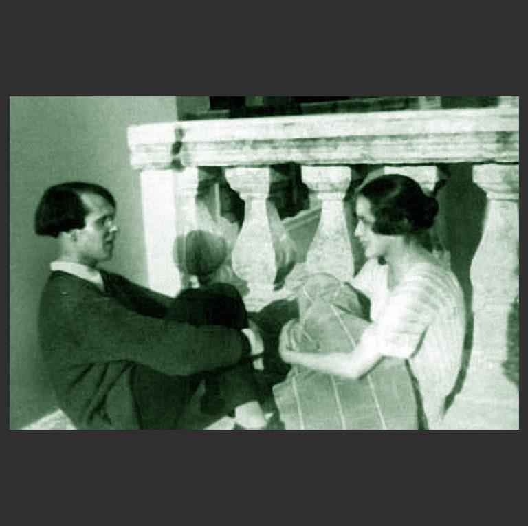 Владислав Ходасевич и Нина Николаевна Берберова (1901—1993) на вилле Максима Горького в Италии