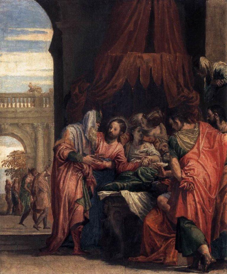 Воскрешение дочери Иаира. Ок.1546