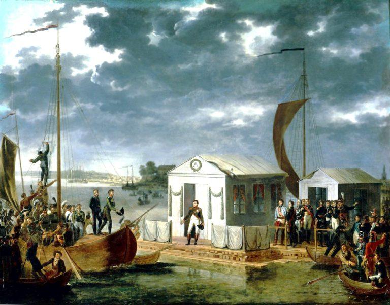 Встреча Наполеона и Александра I на Немане 25 июня 1807 года. 1807
