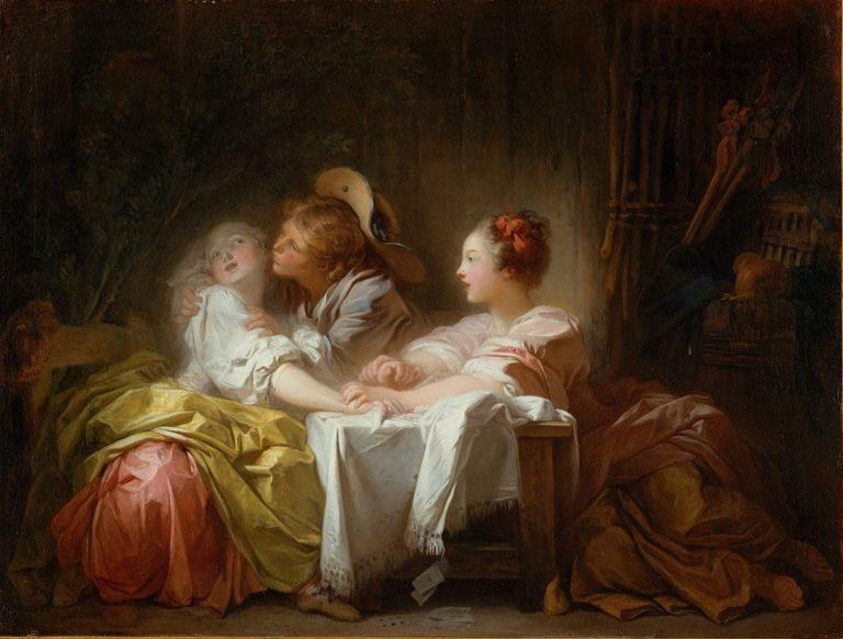 Выигранный поцелуй. ок.1760