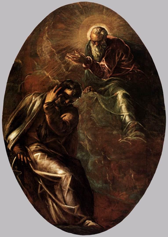 Явление Господа Моисею. 1577-1578