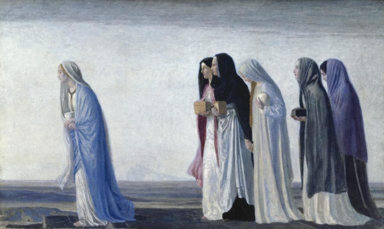 Женщины идущие к склепу. 1922