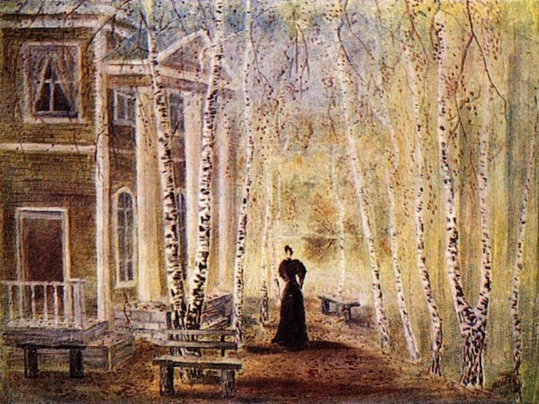 Эскиз декорации к пьесе «Три сестры» А.П.Чехова (1940)