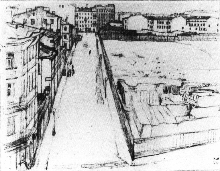 Виды на Матятин переулок, где жил в детстве Ф.Сологуб