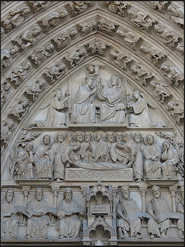 Главный портал собора Парижской Богоматери
