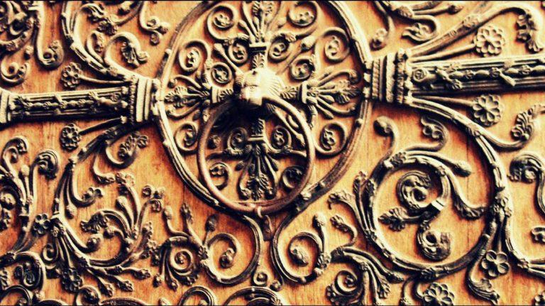 Кованые ворота собора Парижской Богоматери