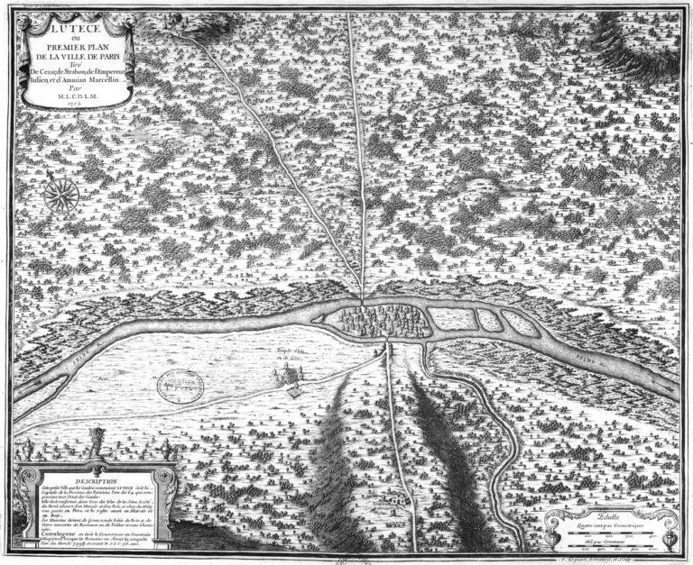 План древней Лютеции (Парижа) с о. Сите