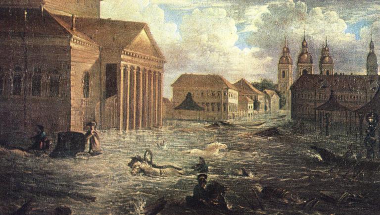 7 ноября 1824 года на площади у Большого театра, Санкт-Петербург