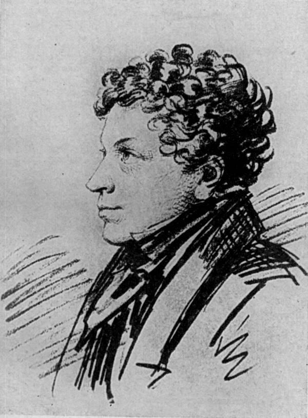 Лев Сергеевич Пушкин (1805 — 1852) около 1820 года