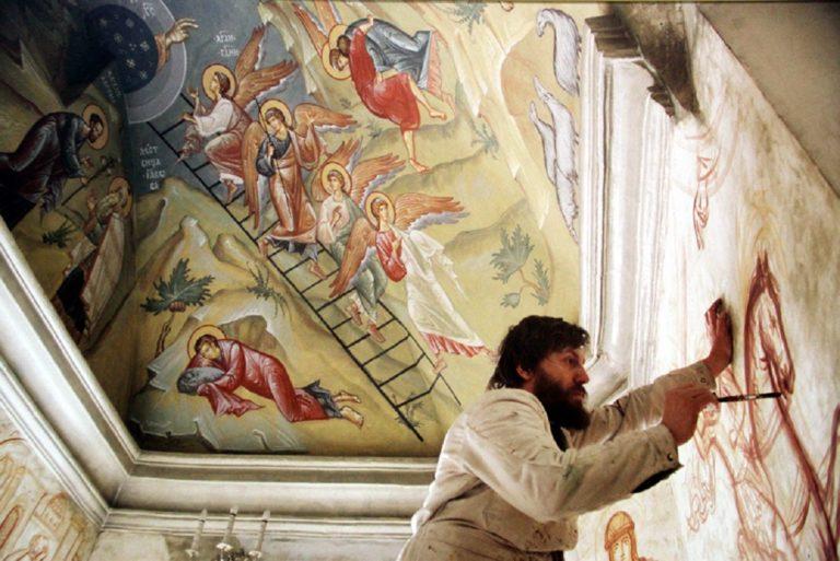 А.М. Соколов в храме иконы Божией Матери «Живоносный источник»