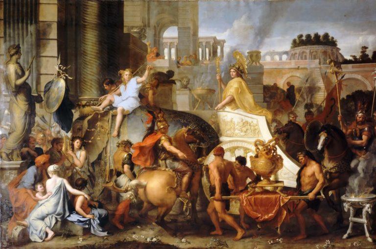 Александр вступает в Вавилон. Ок. 1664