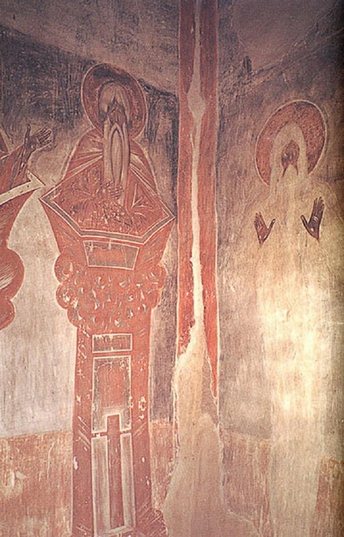 Алипий Столпник и Макарий Египетский. 1378 г.