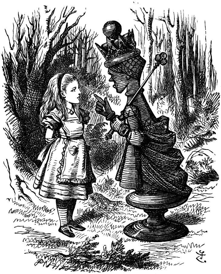 Алиса и Черная Королева