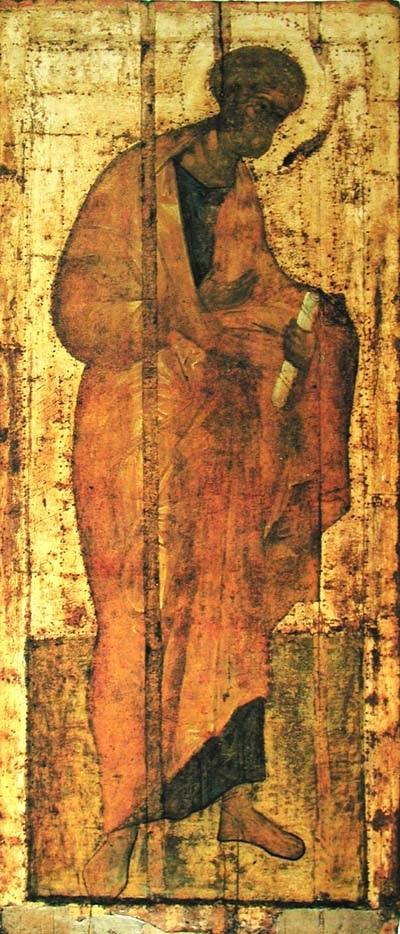 Апостол Петр. Троицкий собор Троиц-Сергиевой Лавры. XV в.
