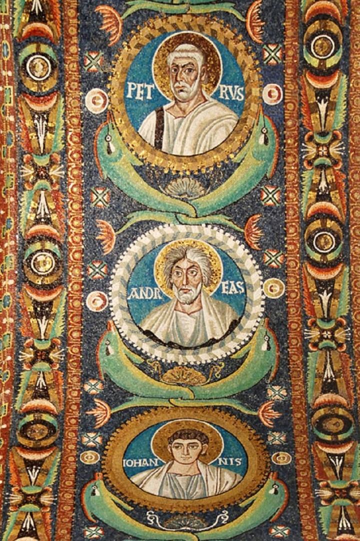 Апостолы на сводах базилики Сан-Витале. VI в. Равенна