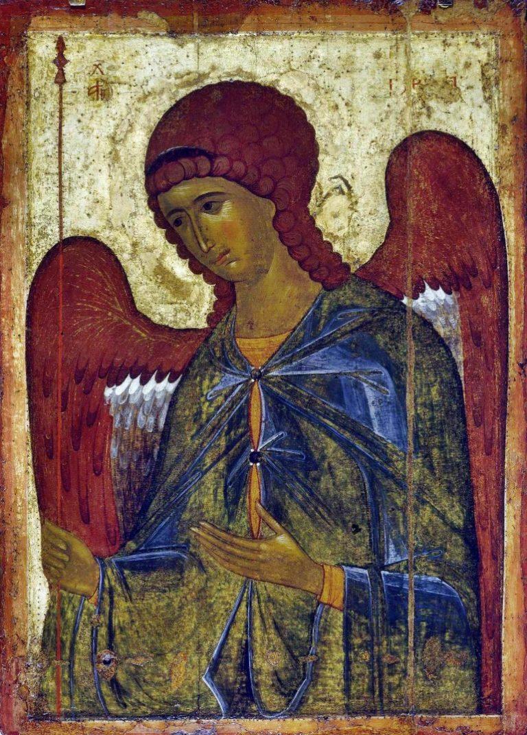 Архангел Гавриил. Высоцкий чин. XIV в. Византийская икона