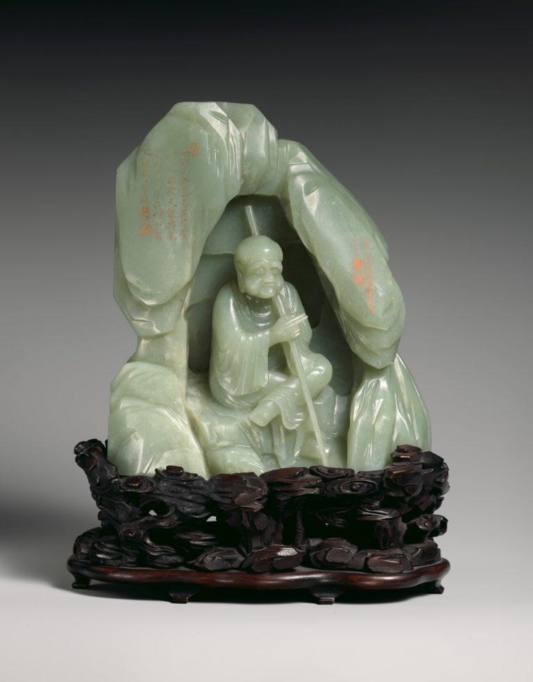 Архат, сидящий в гроте. Китай, XVII в.