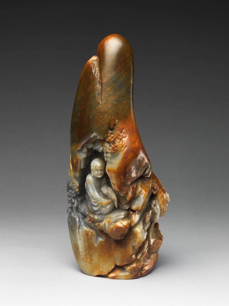 Архат, сидящий в гроте. Китай, XVIII-XIX вв.