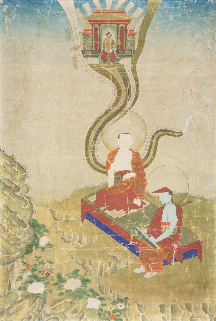 Асанга и Васубандху. Тибет, XIX в.