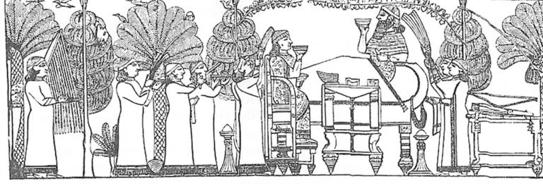 Ашшурбанапал и его царица за столом, или «Пир Ашшурбанапала»