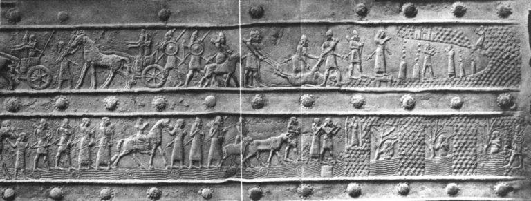 Ассирийское войско, одержавшее победу над урартами у оз. Ван ок. 858 года до н.э, под командованием Салманасара III