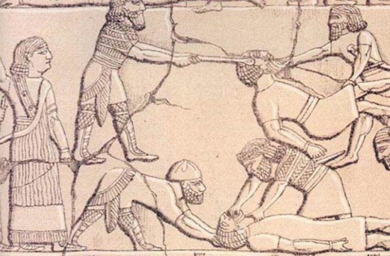 Ассирийские таблички с изображениями пыток пленников