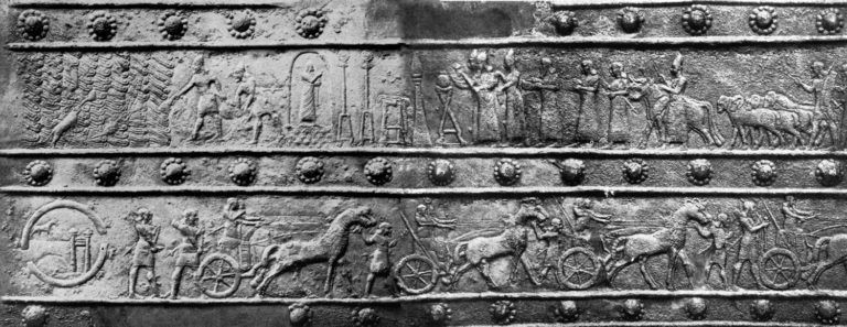 Победа ассирийцев над урартами ок. 858 года до н.э. под командованием Салманасара III в битве у берегов оз. Ван