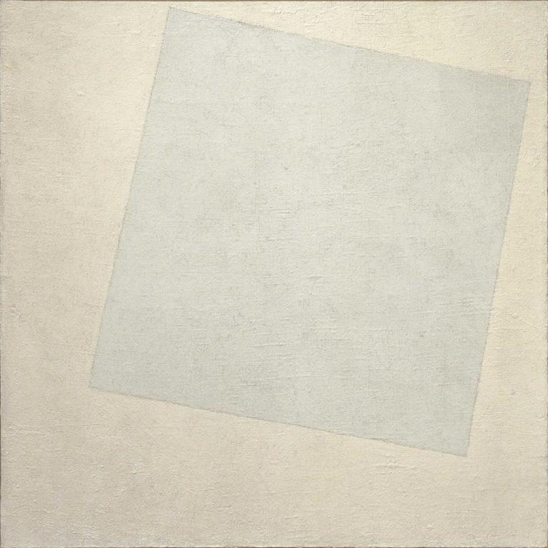 Белое на белом (Белый квадрат). 1918