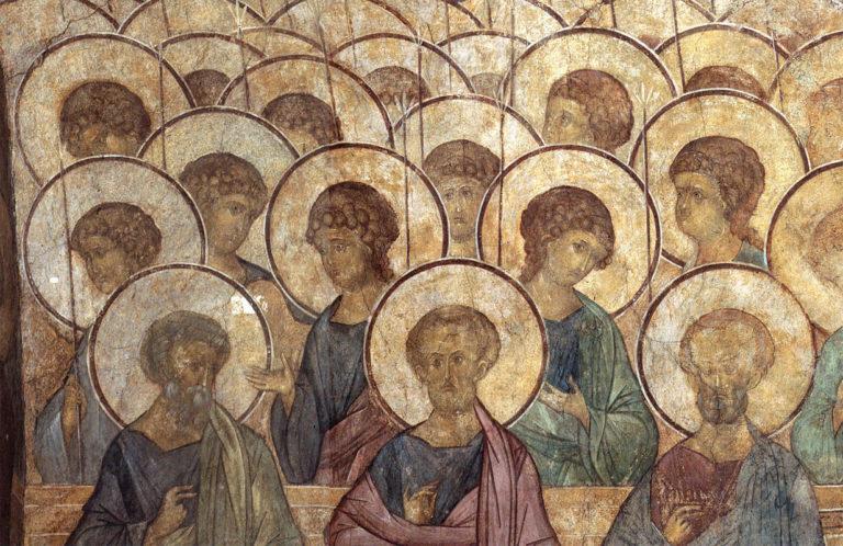 Беседующие апостолы и ангелы. 1408 г.