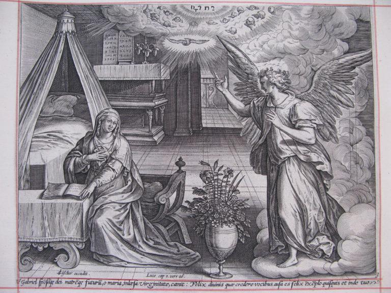 Благовещение. Лицевая Библия Пискаторов. XVII в.