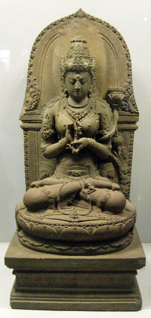 Бодхисаттва Праджняпарамита, воплощение совершенной мудрости. XIII в.