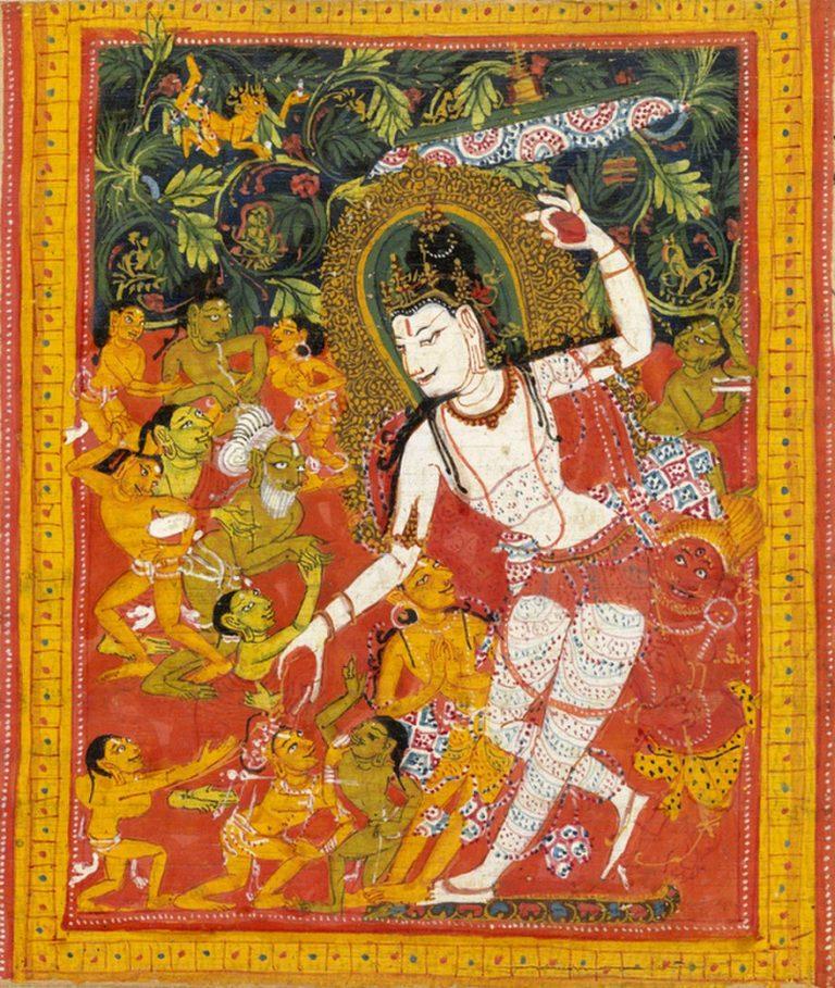Бодхисаттва приносит пользу чувствующим существам. Индия, XII в.