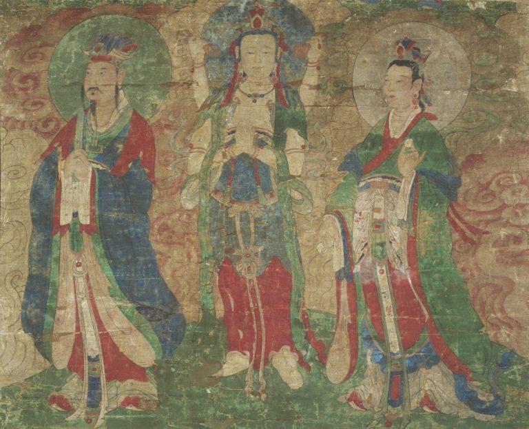 Бодхисаттва в окружении служителей. Корея, XVIII в.