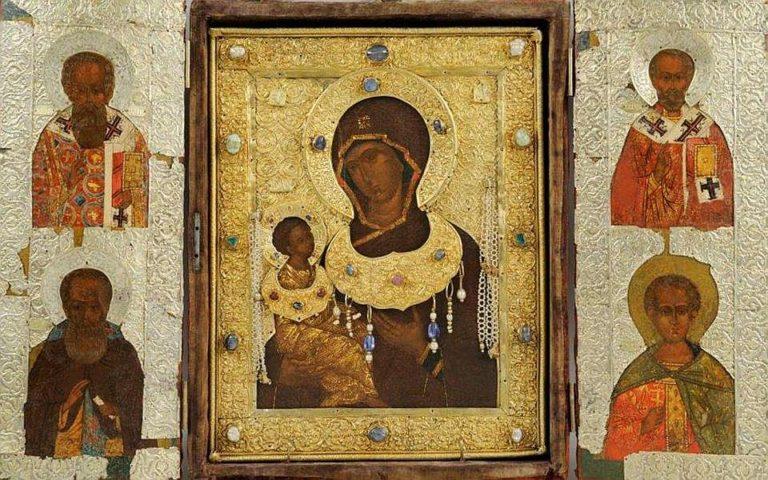 Богоматерь Одигитрия с избранными святыми. Конец XVI – начало XVII вв.