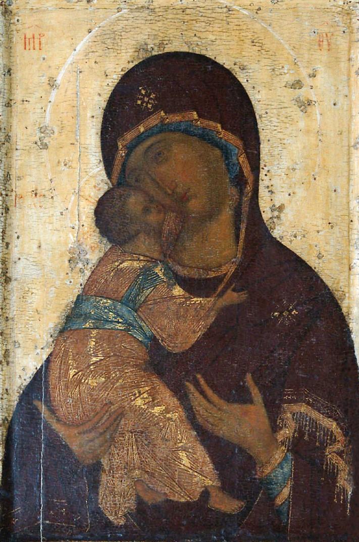 Богоматерь Владимирская (без полей). 1395 – сер. 1410-х гг.