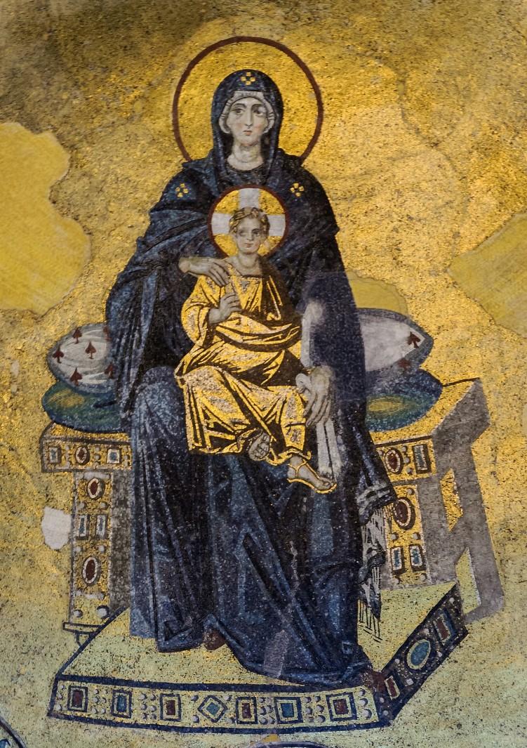 Богоматерь в конхе апсиды. 850-е гг.