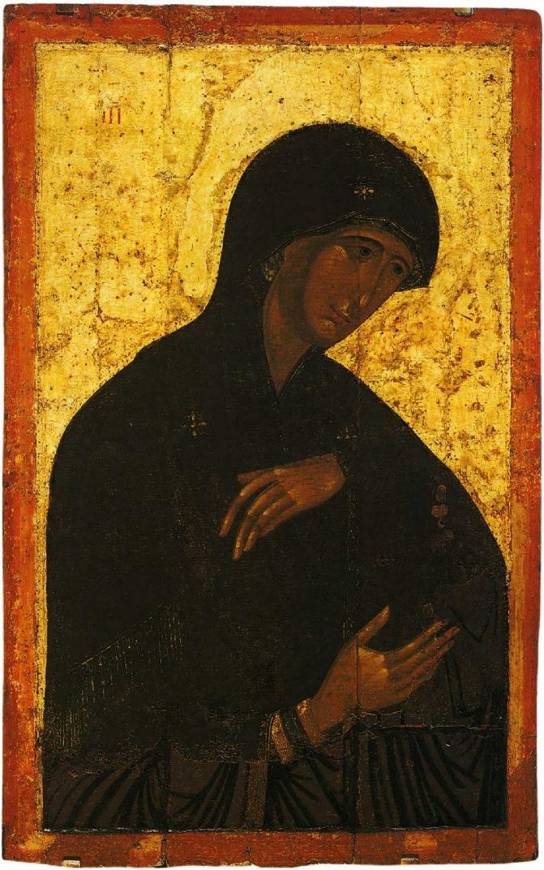Богоматерь. Высоцкий чин. XIV в. Византийская икона