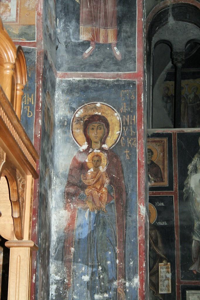 Богородица. XII в. Фрески монастыря Студеница