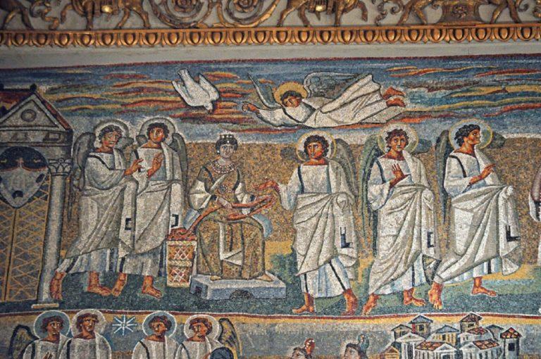 Богородица в одеждах римской знати