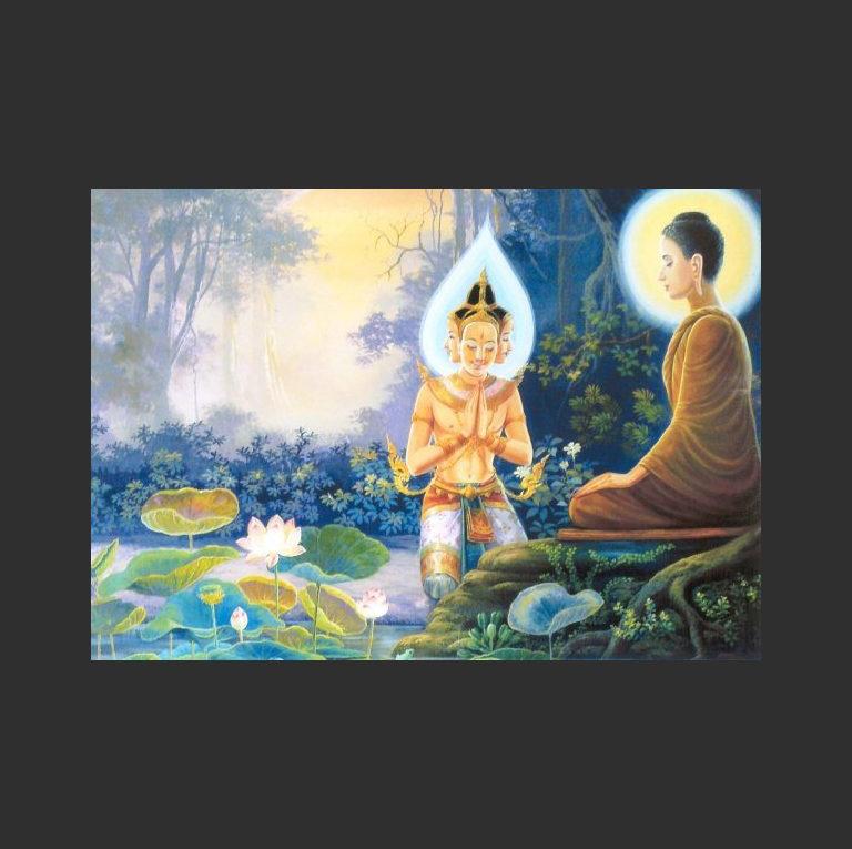 Брахма Сахампати с Буддой