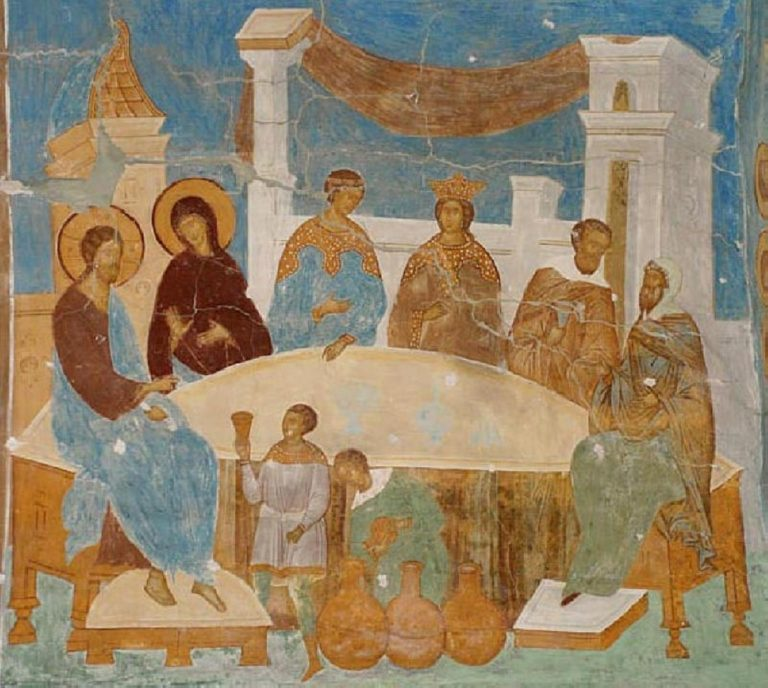 Брак в Кане Галилейской. Фреска. 1502